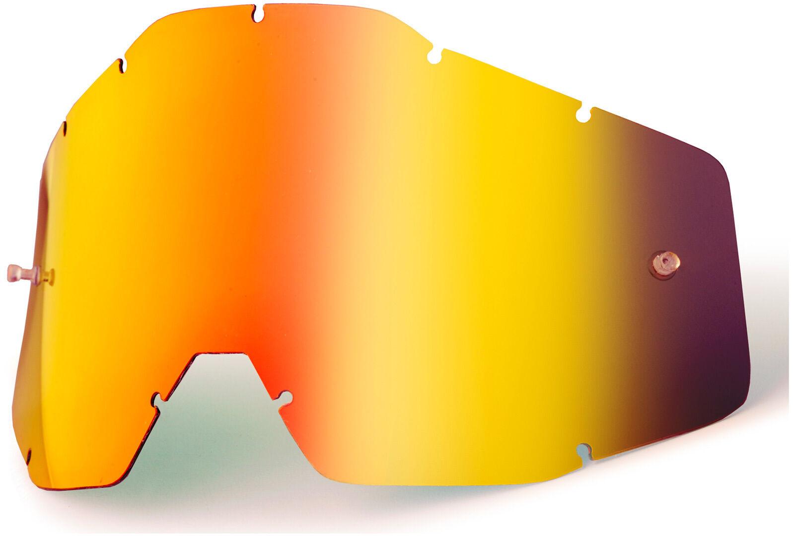 100% Race / Accuri / Strata Mirrored Lentille de remplacement Rouge taille : unique taille