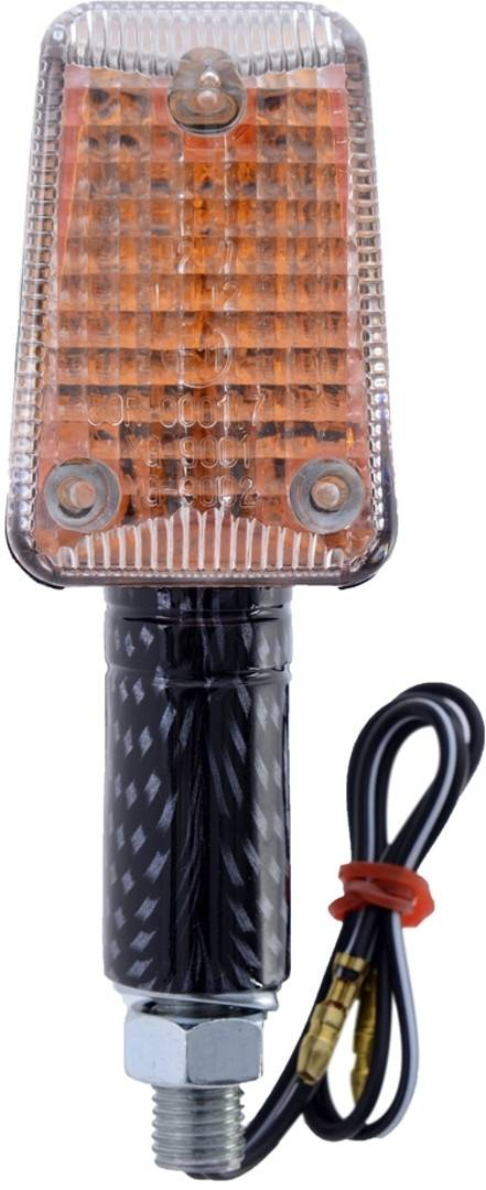 Oxford Rectangle Mini Motorcycle Turn Signals Charbon taille :