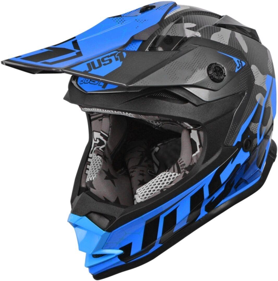 Just1 J32 Pro Kick Casque enfants Noir Bleu taille : M