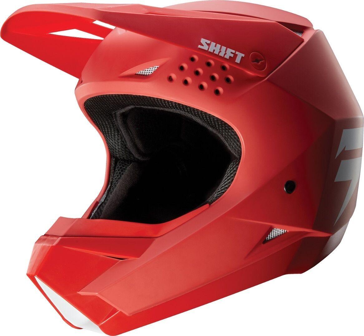 Shift WHIT3 Casque de Motocross enfants Rouge taille : M