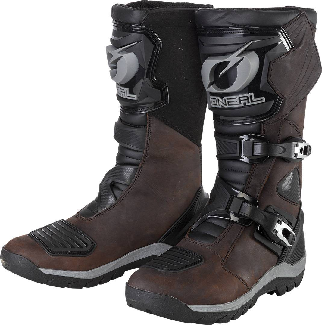 Oneal Sierra Pro Bottes imperméables de Motocross Brun taille : 47