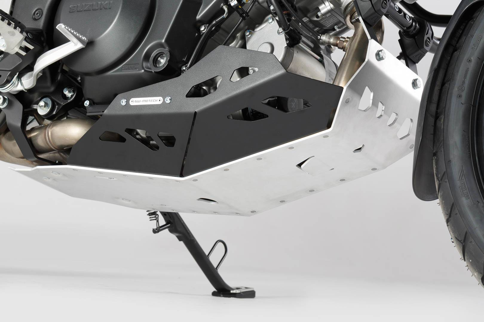SW-Motech Sabot moteur - Noir/Gris. Pour V-Strom 1000 avec crashbar. taille : unique taille
