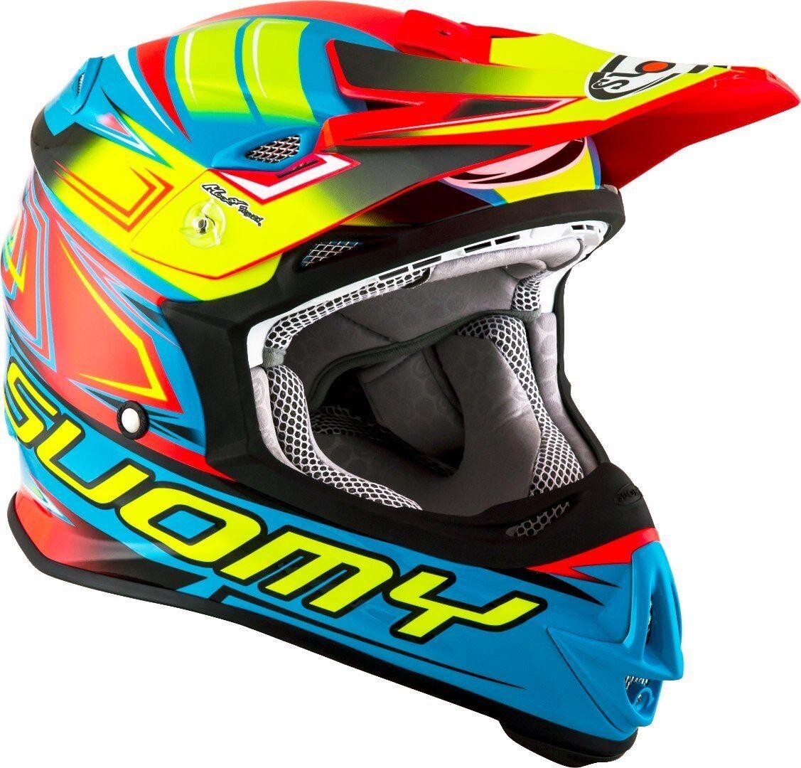 Suomy MR Jump Start Casque de motocross Rose Bleu taille : XL