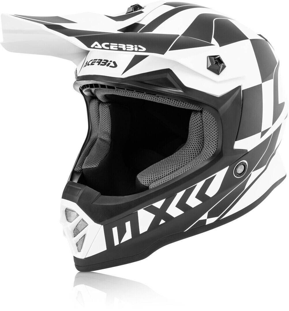 Acerbis Steel Junior Casque Motocross pour enfants Noir Blanc taille : S