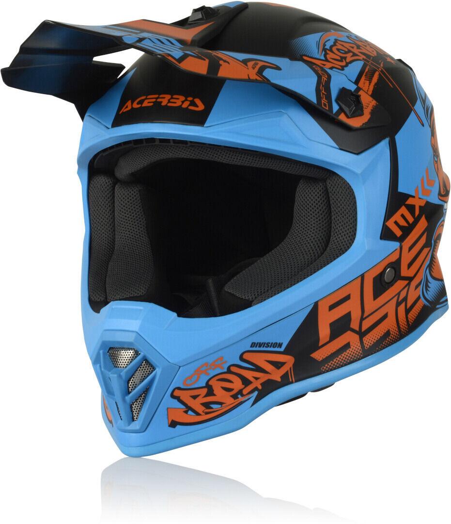 Acerbis Steel Junior Casque Motocross pour enfants Rouge Bleu taille : L