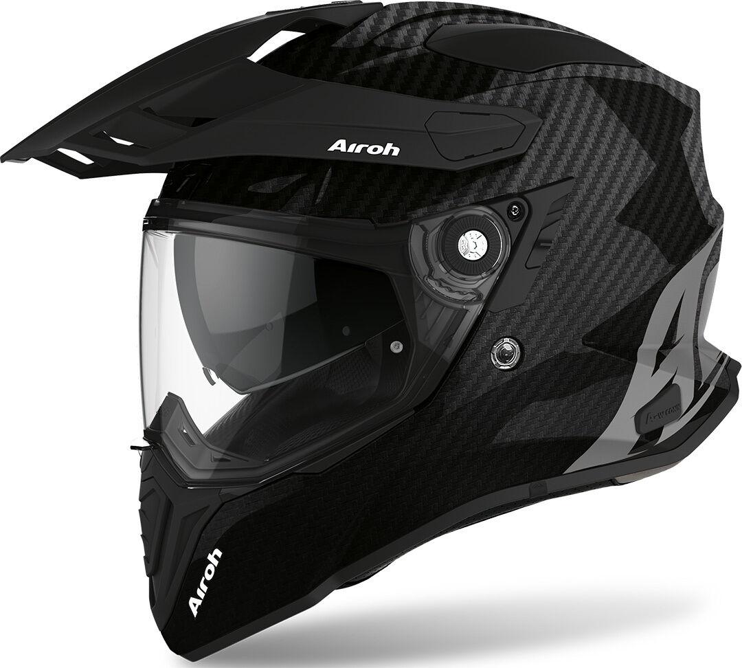 Airoh Commander Carbon Casque Motocross Noir Charbon taille : M