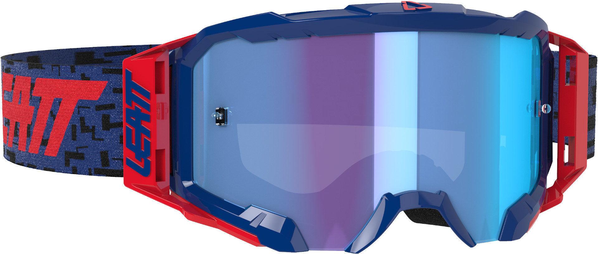 Leatt Velocity 5.5 Iriz Lunettes Motocross Rouge Bleu taille : unique taille