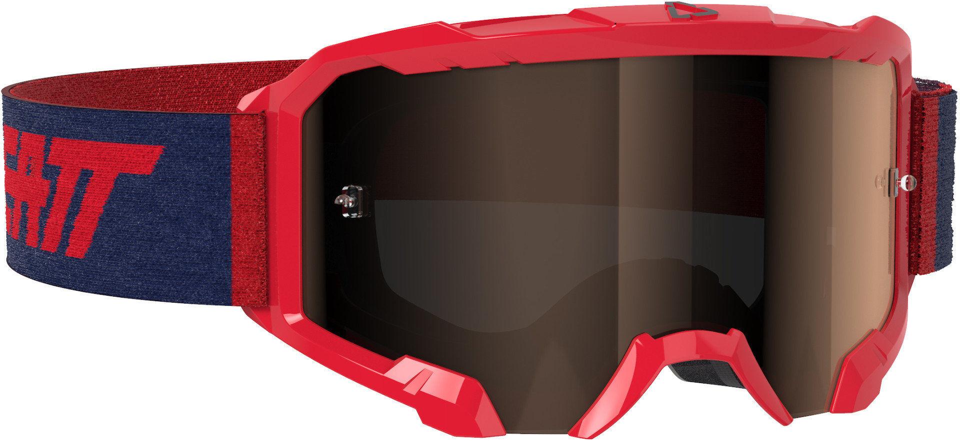 Leatt Velocity 4.5 Iriz Lunettes Motocross Rouge Bleu taille : unique taille
