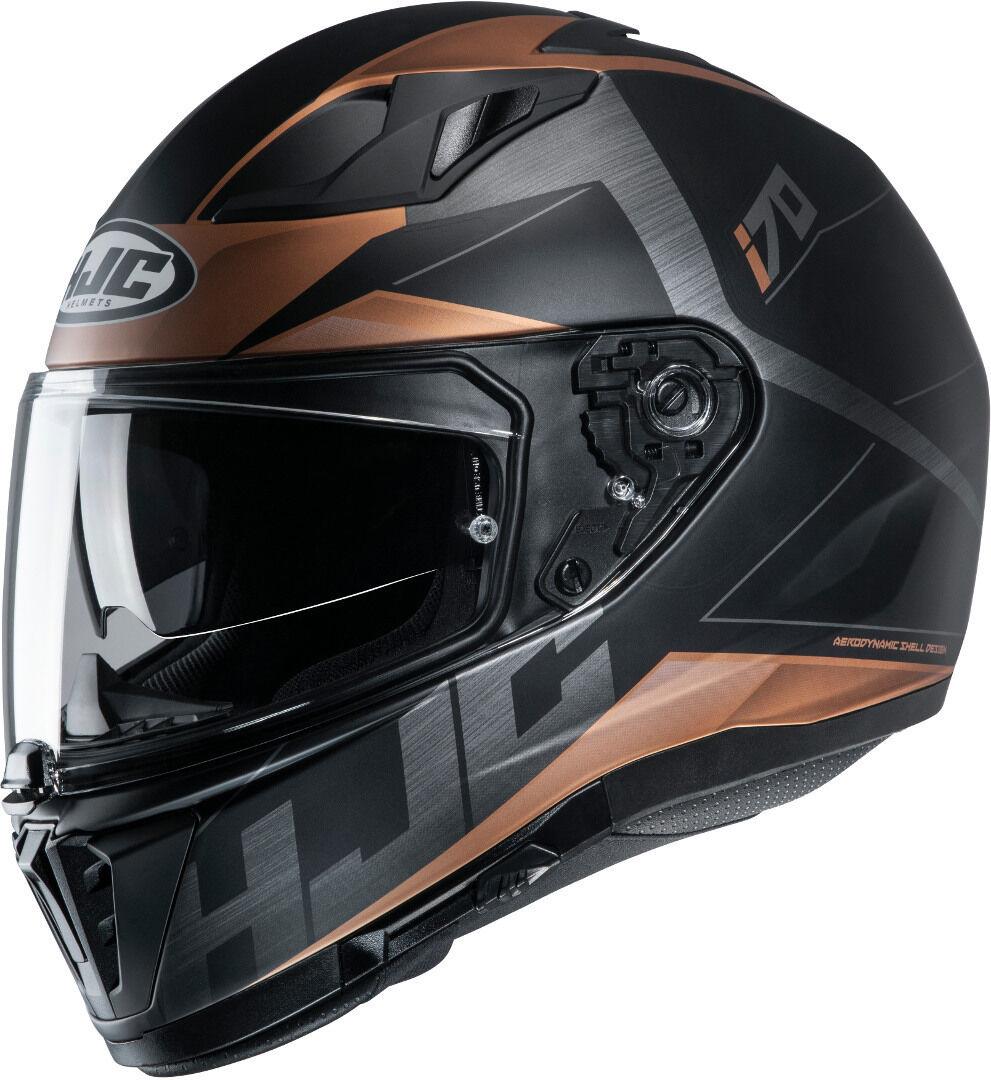 HJC i70 Eluma Casque Noir Brun taille : S
