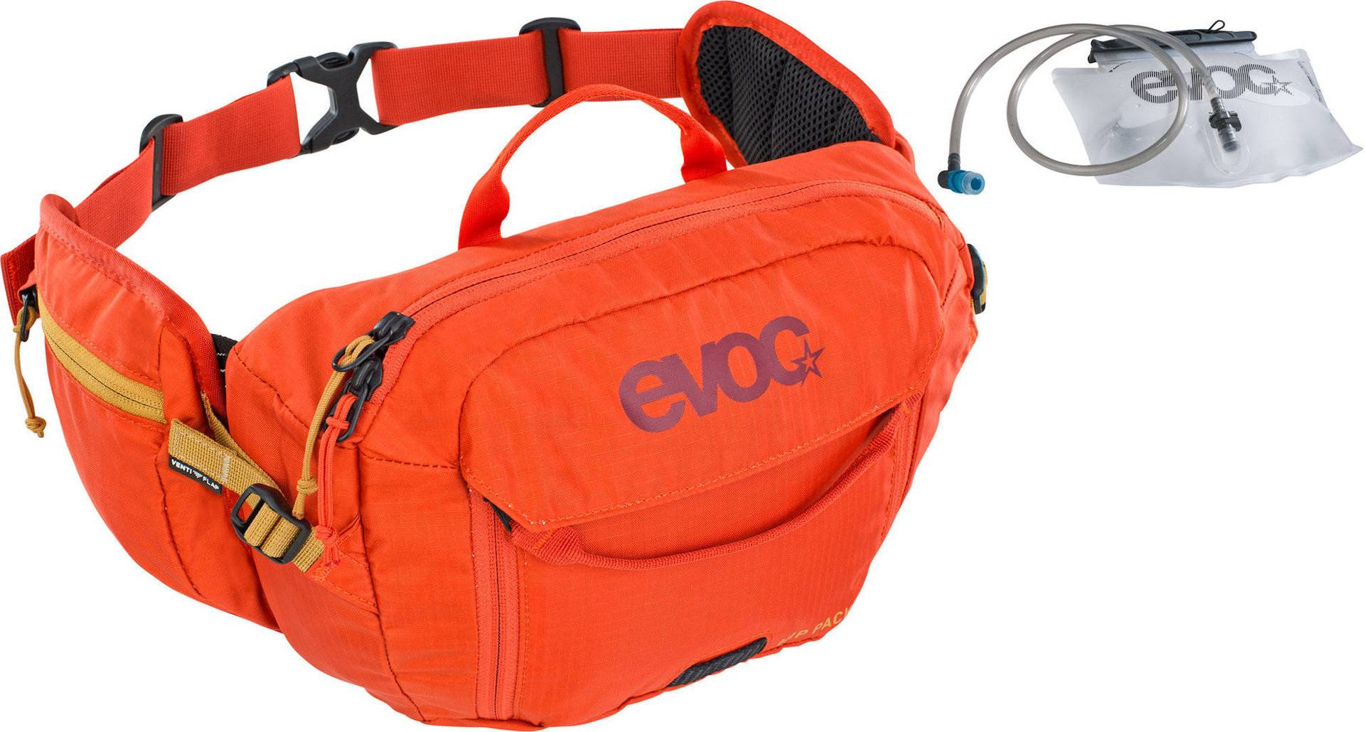 Evoc Hip Pack 3L Sac de hanche - vessie d'hydratation de 1,5 L Orange taille : 0-5l