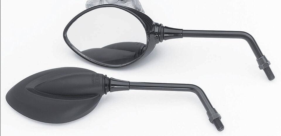 LSL Rétro-regard miroir Flamme, noir Noir taille :