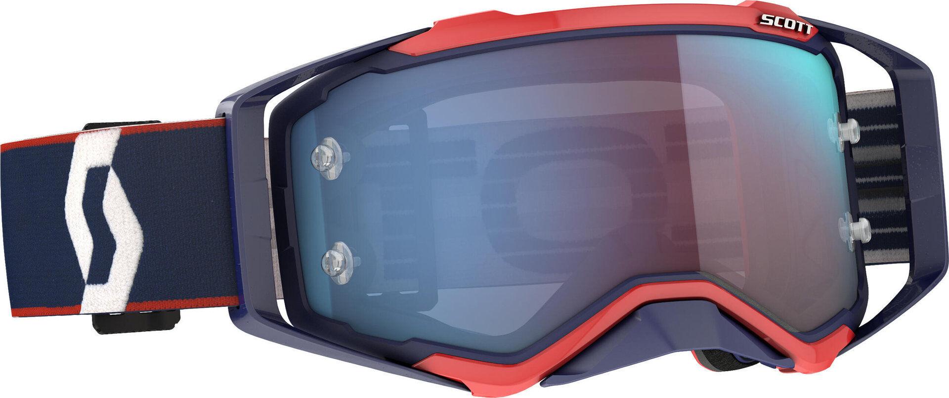 Scott Prospect lunettes rétro bleu/rod Motocross Bleu Rouge taille : unique taille
