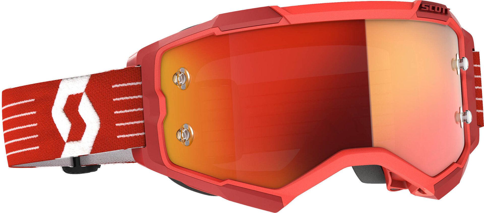 Scott Fury Lunettes de Motocross rouges Rouge taille : unique taille