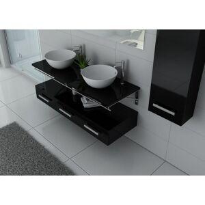 Distribain Meubles salle de bain VIRTUOSE DUO Noir - Publicité