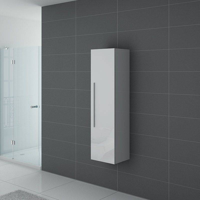 Distribain Meuble colonne PAL150B salle de bain Blanc