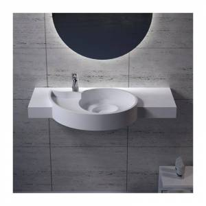 Distribain Plan vasque solid surface spirale Réf : SDPW43