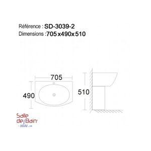 Distribain Lave main suspendu Réf : SD3039-2