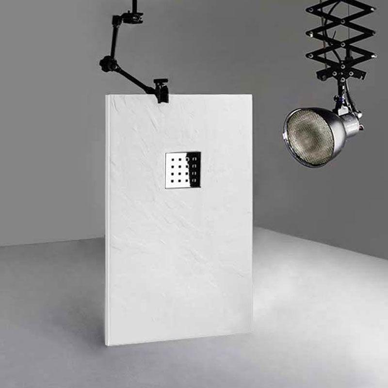 DOCCIA Receveur 140x80 cm, receveur de douche rectangulaire en gel coat, receveur 140x80 PIZARRA Blanc