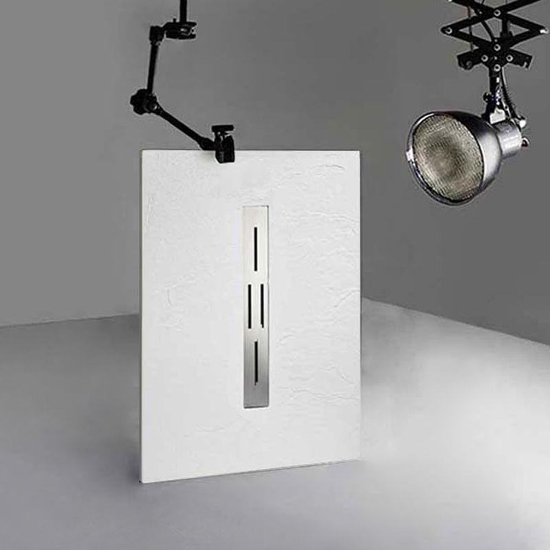 DOCCIA Receveur de douche extra plat 120x80 en gel coat, receveur de douche rectangulaire 120x80 ARDESIA
