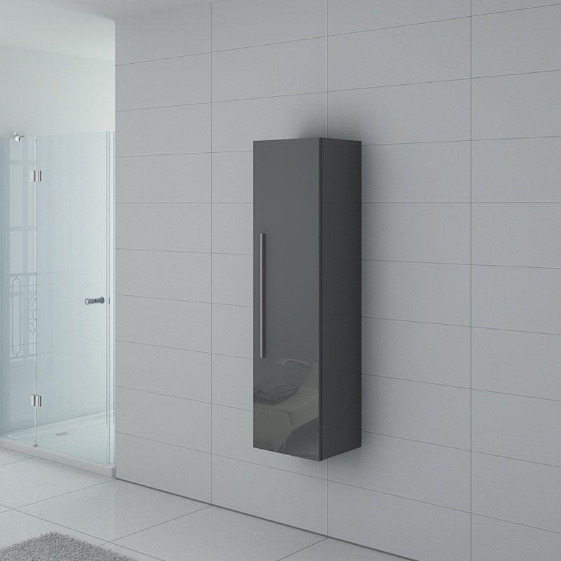 Distribain Meuble colonne PAL150GT salle de bain Gris Taupe