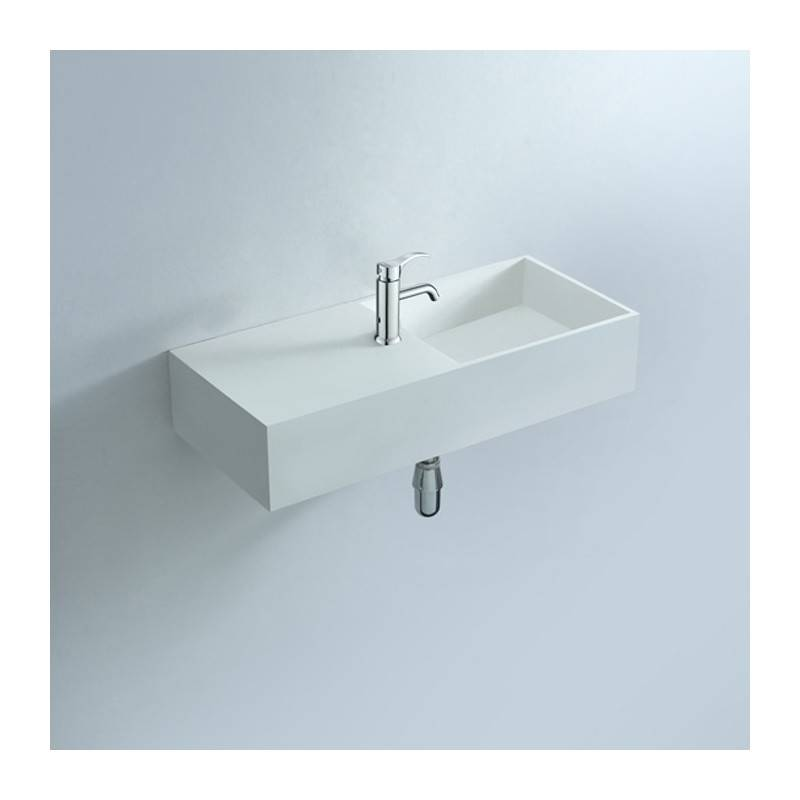 Distribain Lave main suspendu solid surface Réf : SDWD3817