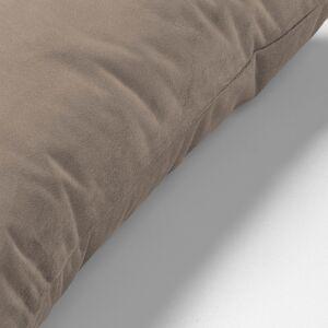 Kave Home - Housse de coussin Lita 30x50 cm velours taupe - Publicité