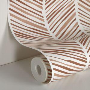 Kave Home - Papier peint Uriana imprimé rayures marron 10 x 0,53m FSC MIX Credit - Publicité