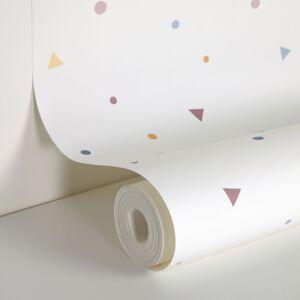 Kave Home - Papier peint Miris imprimé pois et triangles multicolore de 10 x 0,53m FSC MIX Credit - Publicité