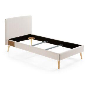 Kave Home - Housse de lit Dyla 90 x 190 cm beige - Publicité