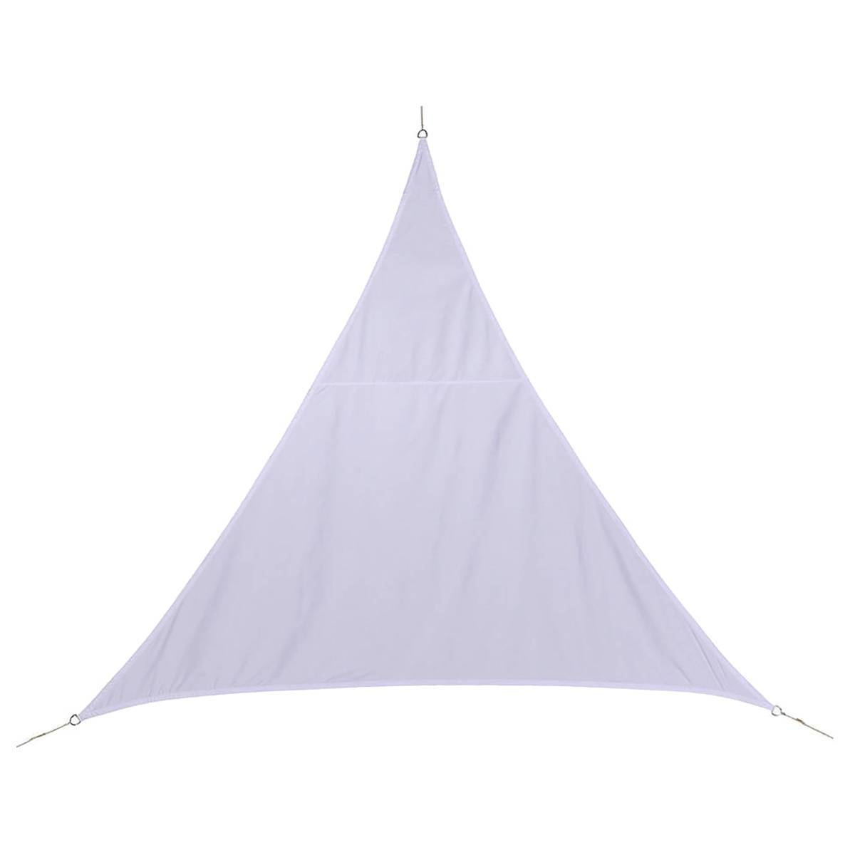 Hespéride Voile d'ombrage triangulaire Curacao Blanc Jardin 5 x 5 x 5 m - Polyester