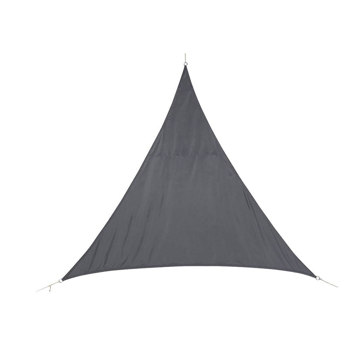 Hespéride Voile d'ombrage triangulaire Curacao Gris Jardin 4 x 4 x 4 m - Polyester