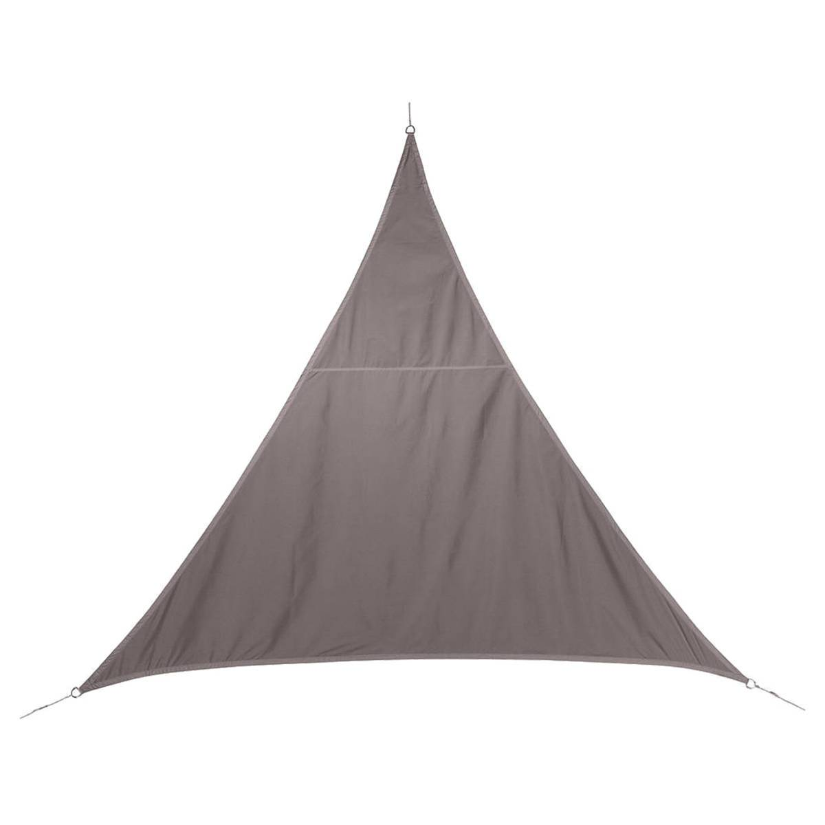 Hespéride Voile d'ombrage triangulaire Curacao Taupe Jardin 4 x 4 x 4 m - Polyester