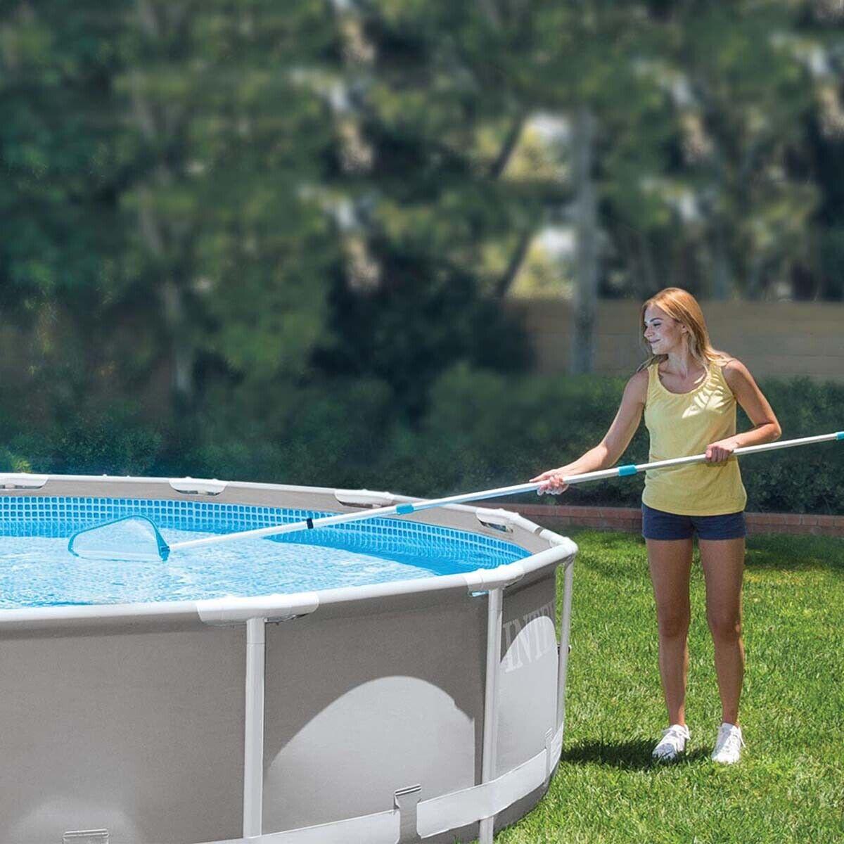 Intex Kit d'entretien pour piscine Jardin Epuisette, balai et manche télescopique