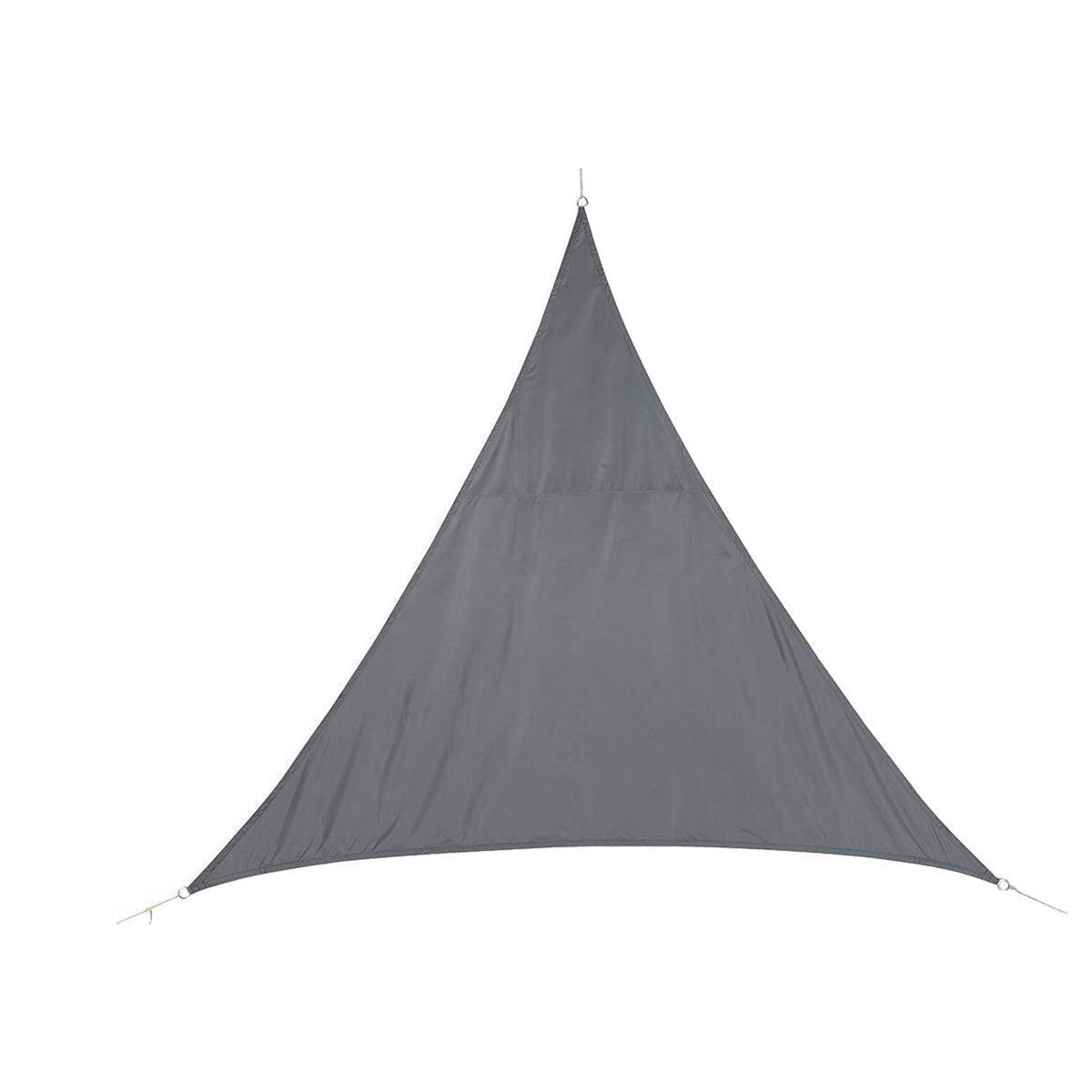 Hespéride Voile d'ombrage triangulaire Curacao Gris Jardin 2 x 2 x 2 m - Polyester