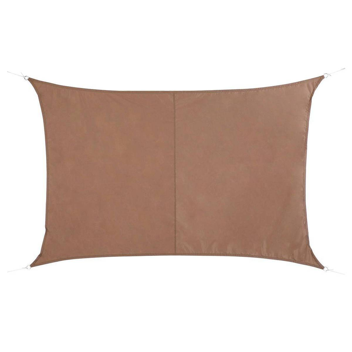 Hespéride Voile d'ombrage rectangulaire Curacao Taupe Jardin 3 x 2 m - Polyester