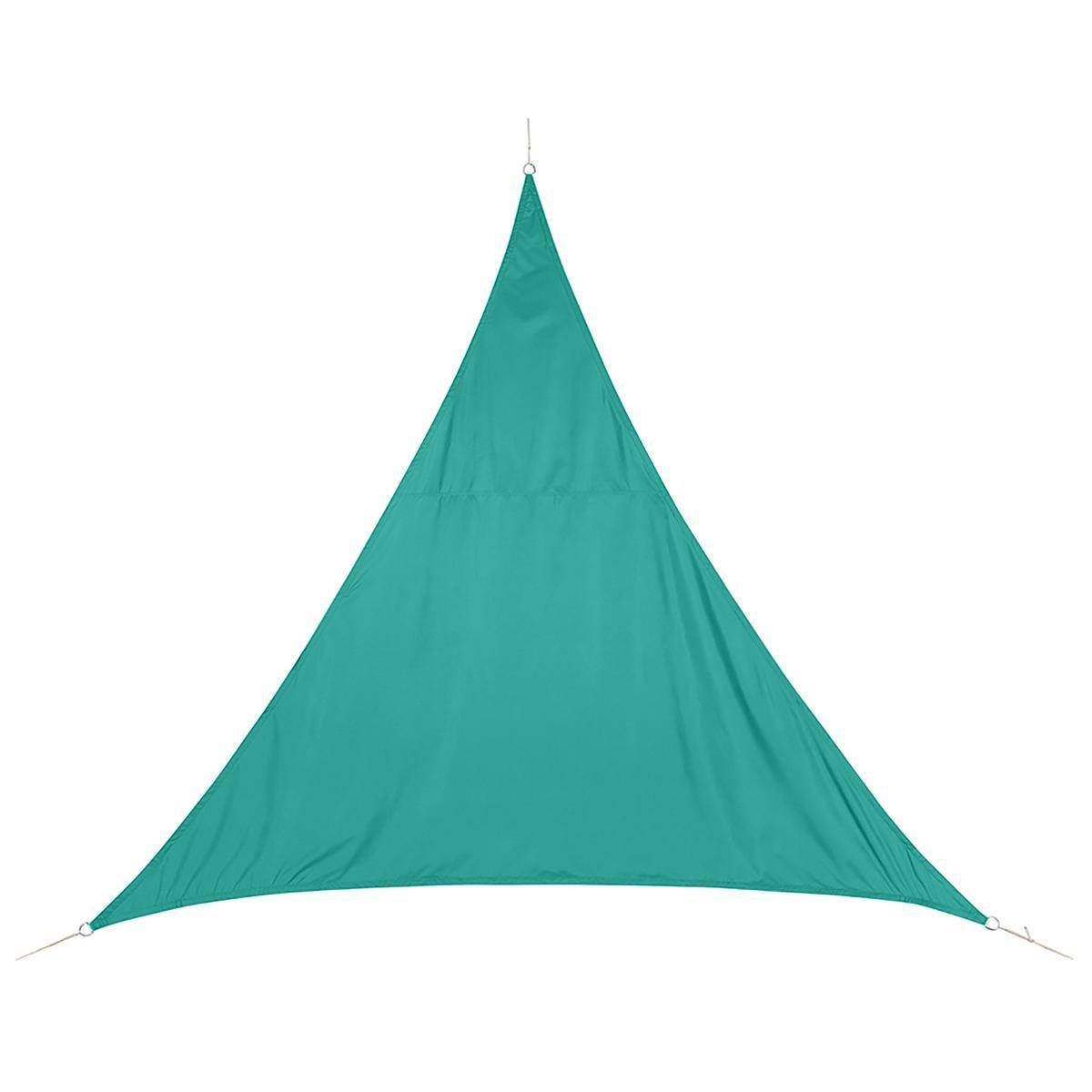 Hespéride Voile d'ombrage triangulaire Curacao Émeraude Jardin 5 x 5 x 5 m - Polyester