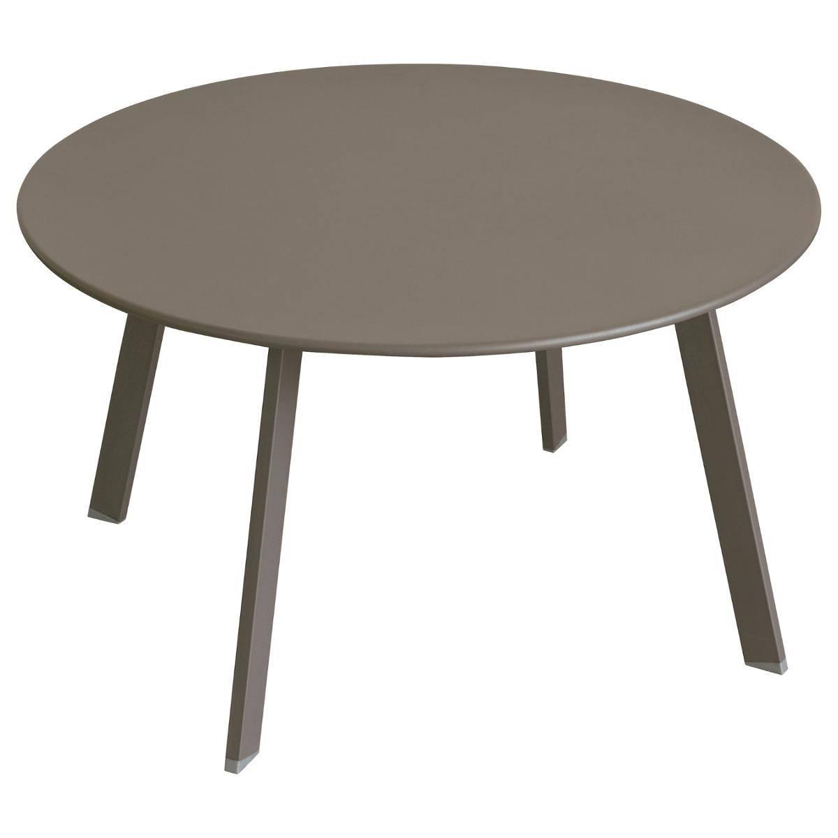 Hespéride Table d'appoint de jardin ronde Saona Tonka 70 x 40 cm - Acier traité époxy