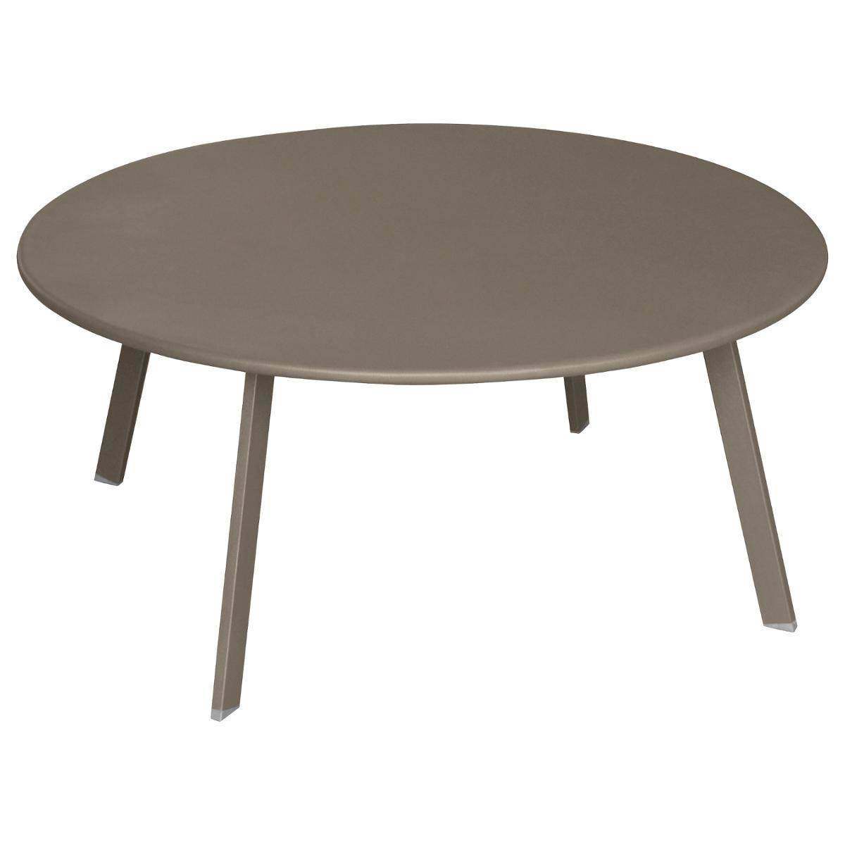 Hespéride Table d'appoint de jardin ronde Saona Tonka 90 x 40 cm - Acier traité époxy