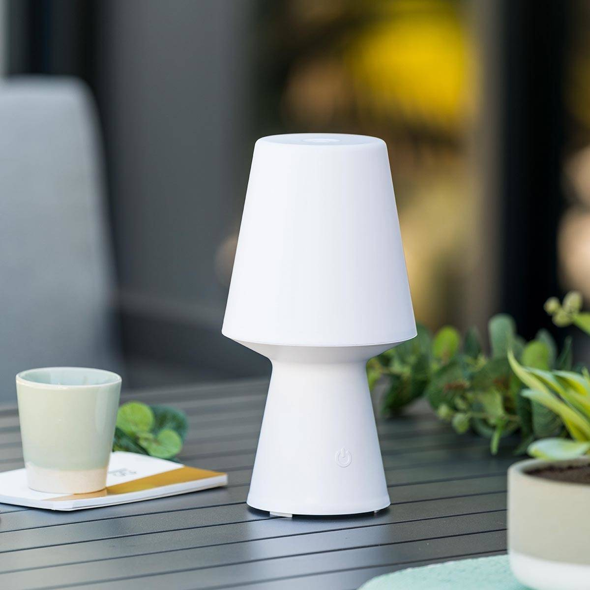 ATMOSPHERA Lampe nomade LED d'extérieur blanche Wiza Jardin H.23 cm
