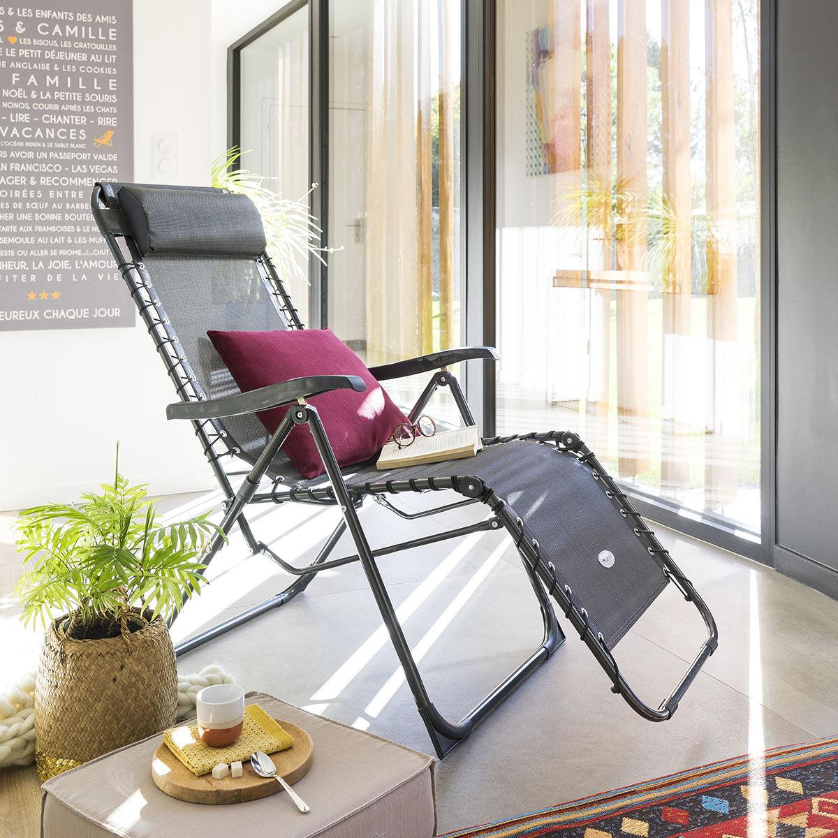 Hespéride Coussin déco d'extérieur Bordeaux Jardin 40 x 40 cm - Polyester