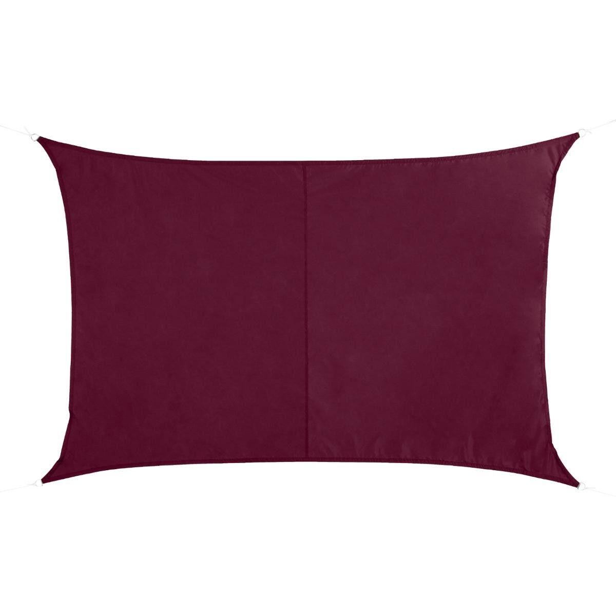 Hespéride Voile d'ombrage rectangulaire Curacao Bordeaux Jardin 3 x 2 m - Polyester
