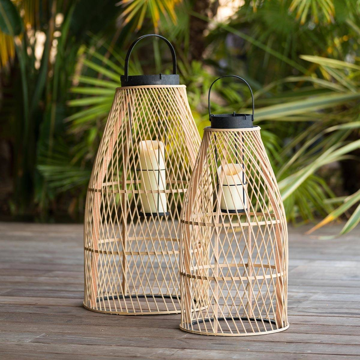 ATMOSPHERA Lot de 2 lanternes d'extérieur Jardin H.70 cm