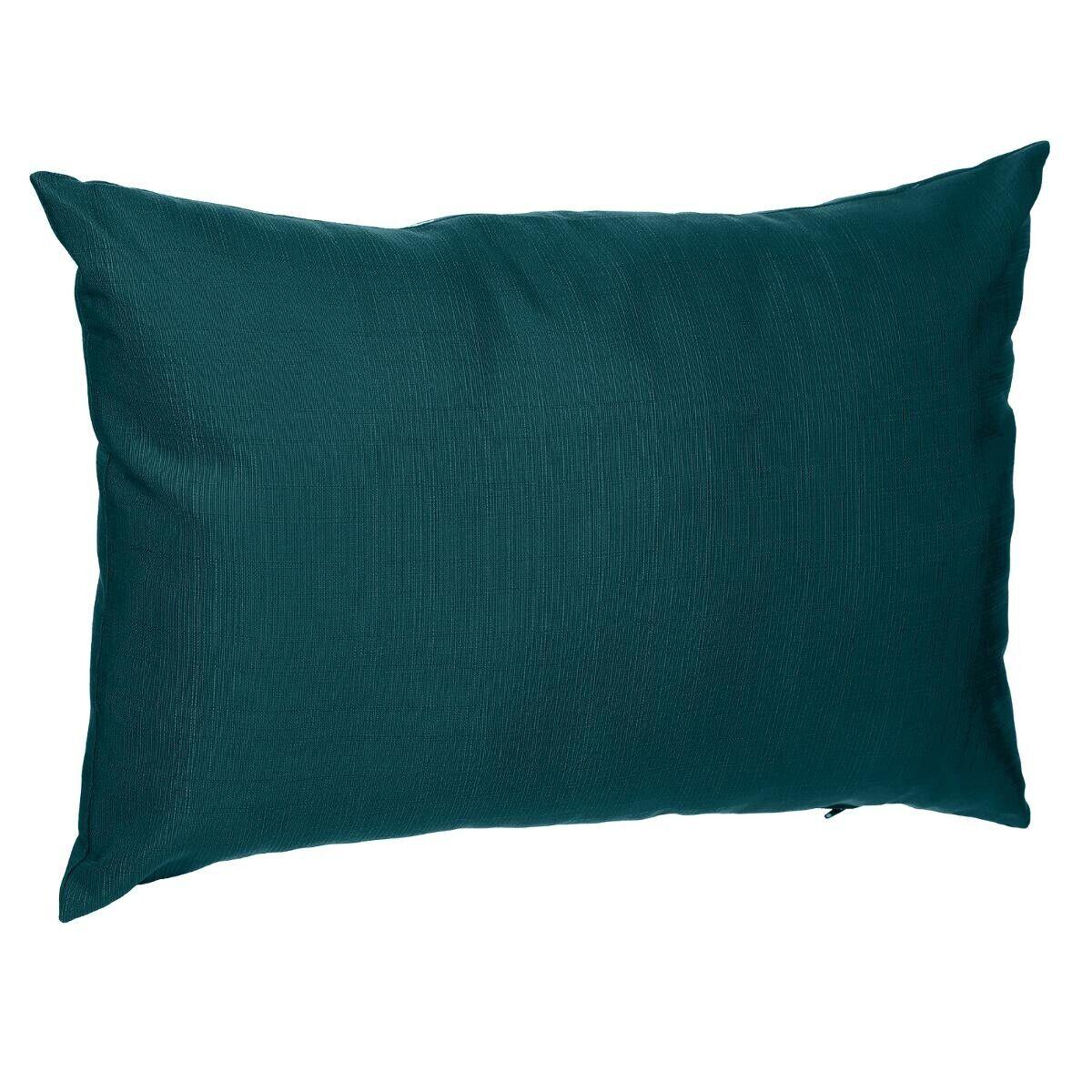 Hespéride Coussin déco d'extérieur Korai Bleu canard Jardin 30 x 50 cm - Polyester
