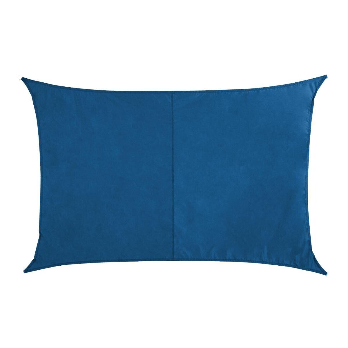 Hespéride Voile d'ombrage Curacao rectangulaire Bleu indigo Jardin 4 x 3 m - Polyester