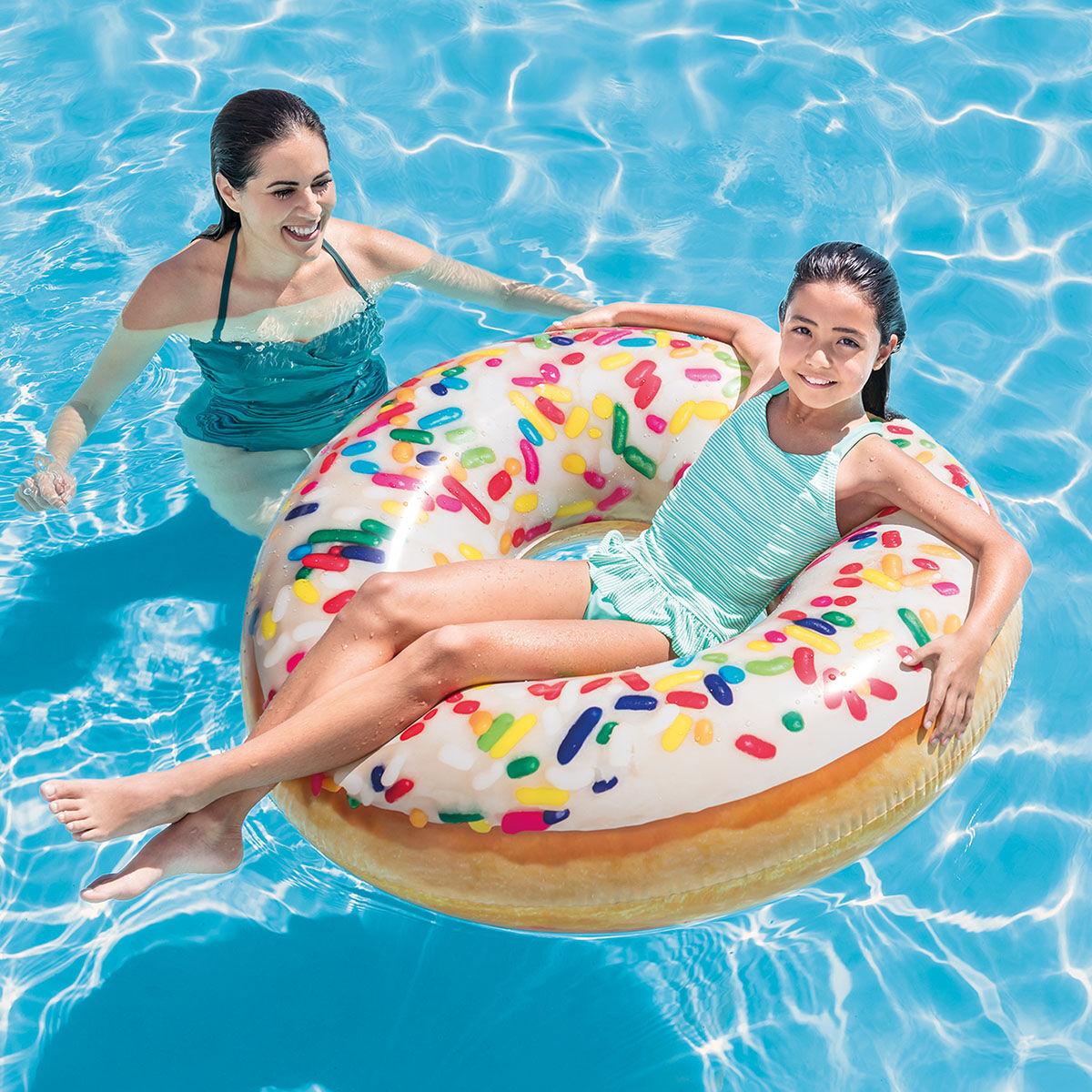 Intex Bouée gonflable Donut Sucre Jardin Diam. 114 cm