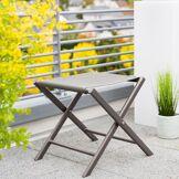 Hespéride Tabouret de jardin pliant Melbourne Noisette & Tonka