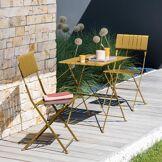 Hespéride Table de jardin pliante Nasca Jaune moutarde