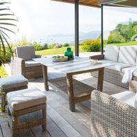 Hespéride Table de jardin rectangulaire Polynésia Naturae 8 places - Aluminium traité époxy, Verre tempé <br /><b>349.00 EUR</b> Hesperide