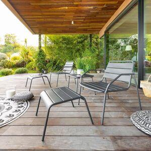Hespéride Salon duo relax Phuket Graphite Jardin 2 places - Acier traité époxy