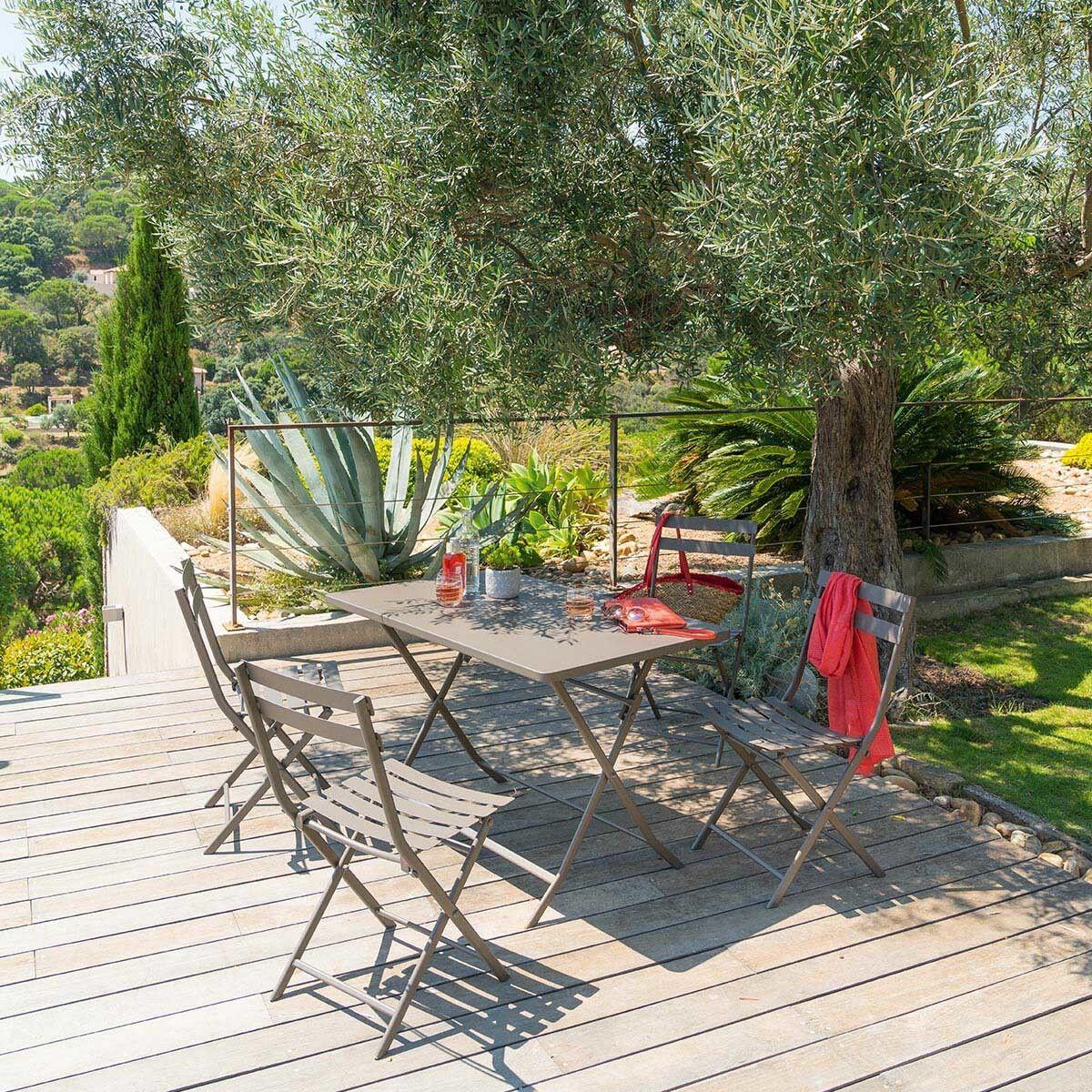 Hespéride Table de jardin pliante rectangulaire Greensboro Tonka